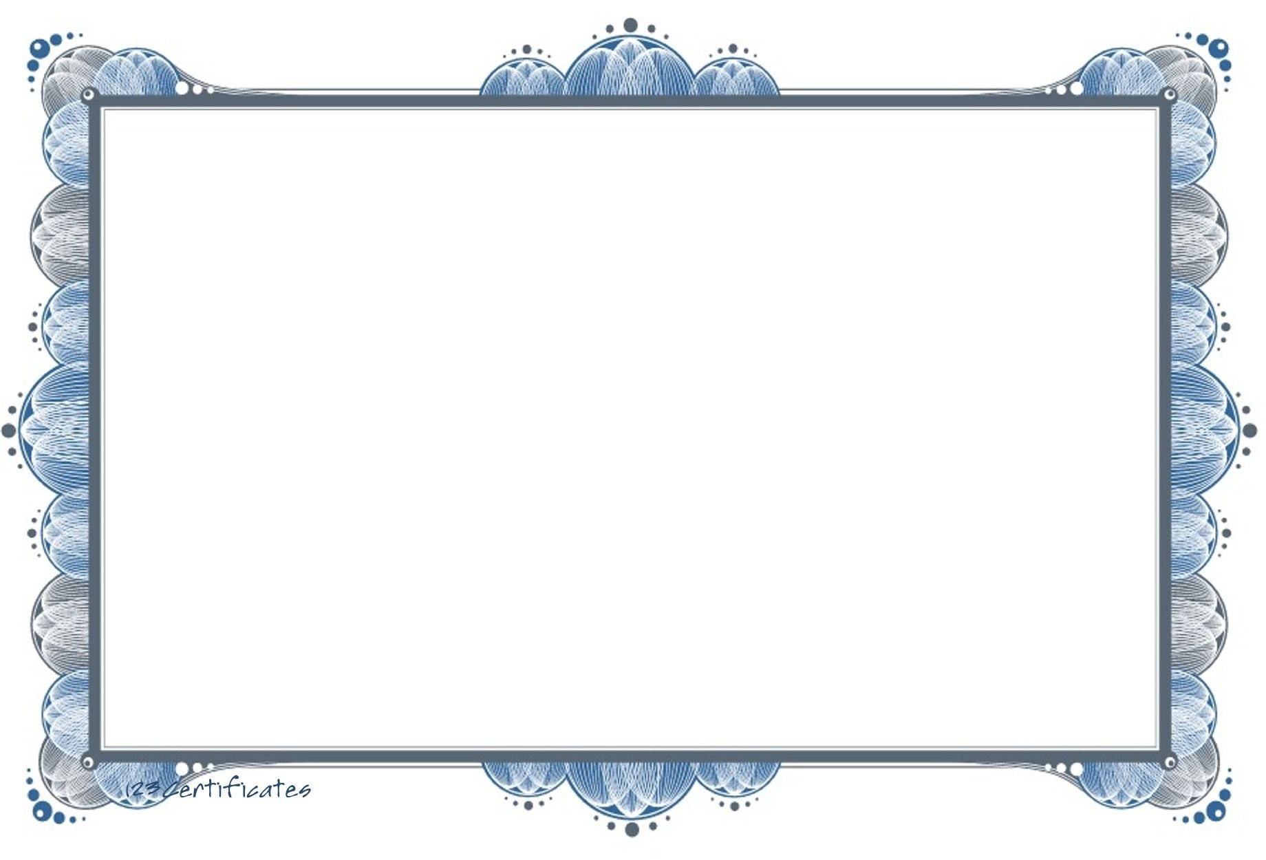 Free Templates  Free Certificate Border Artwork Certificate In Blank Coupon Template Printable