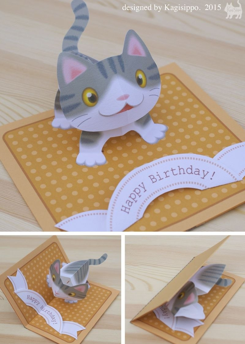 Free Templates  Kagisippo Popup Cards  Pop Up Cards  Birthday With Regard To Templates For Pop Up Cards Free