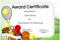 Free Tennis Certificate  Customize Online  Print in Tennis Certificate Template Free