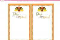 Free Thanksgiving Printable Menu Card Thanksgiving Printable in Thanksgiving Place Cards Template