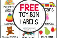Free Toy Bin Labels  Teaching Mama's Posts  Playroom Organization throughout Bin Labels Template