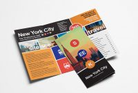Free Travel Trifold Brochure Template For Photoshop  Illustrator with Travel And Tourism Brochure Templates Free