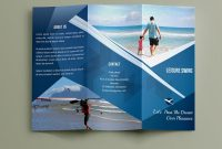 Free Travelling Trifold Brochure Template On Behance  Brochure with Travel And Tourism Brochure Templates Free