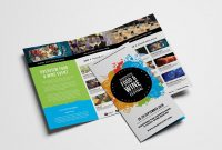 Free Trifold Brochure Template For Events  Festivals  Psd Ai for 2 Fold Brochure Template Free