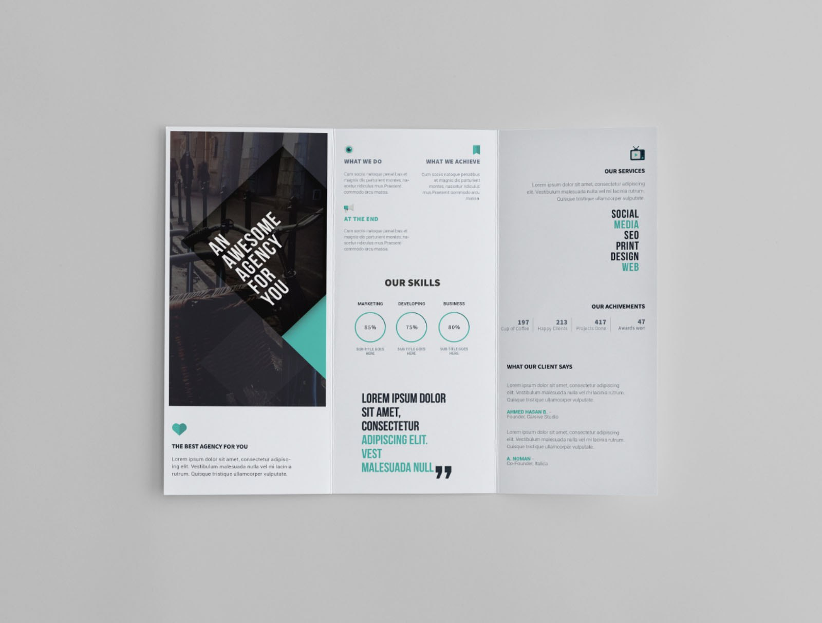Free Trifold Brochure Template Intended For Three Panel Brochure Template