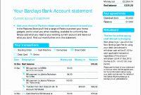 Free Us Bank Statement Template Barclays Fake Uk Create Download regarding Blank Bank Statement Template Download