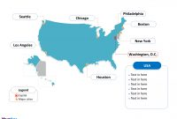 Free Usa Powerpoint Map  Free Powerpoint Templates with United States Map Template Blank