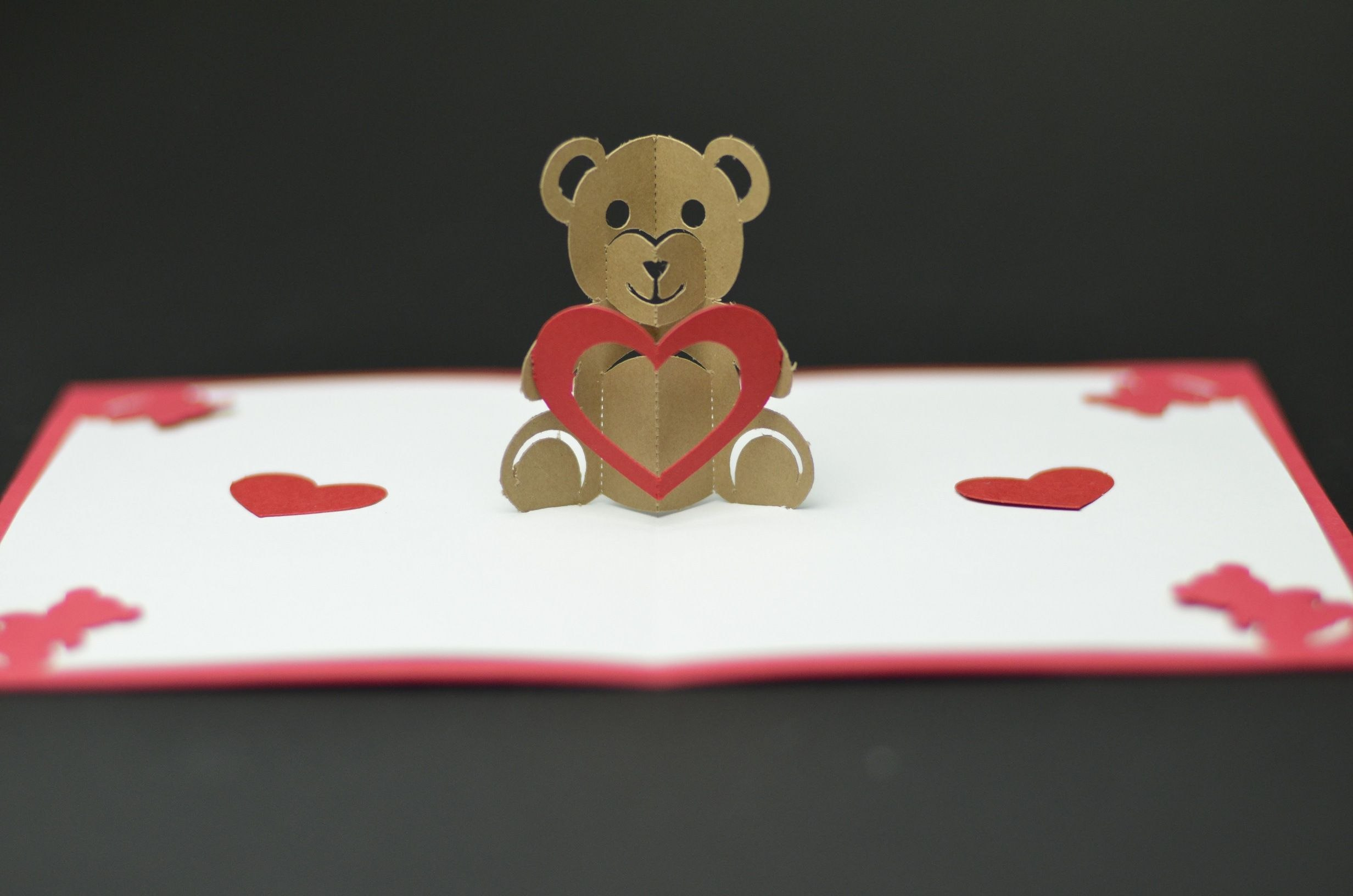Free Valentines Day Pop Up Card Templates Teddy Bear Pop Up Card For Heart Pop Up Card Template Free