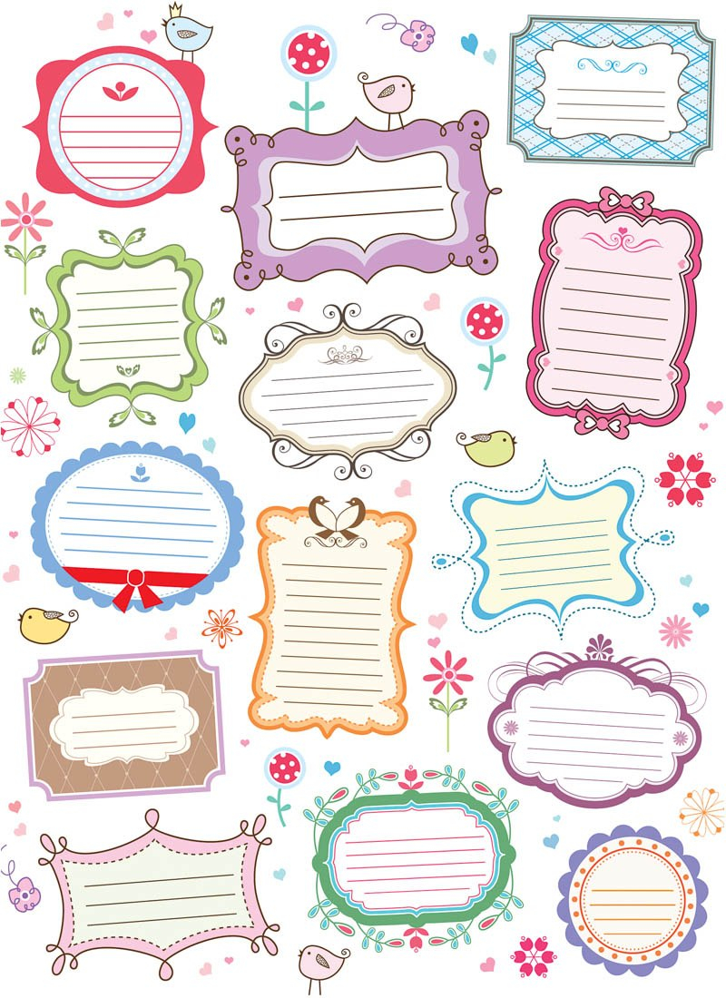 Free Vector Decorative Labels Images  Free Decorative Labels Inside Decorative Label Templates Free