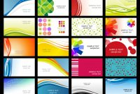 Free Vector Variety Of Dynamic Flow Line Of Business Card Templates throughout Calling Card Free Template