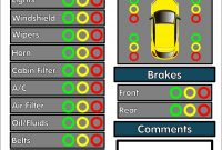 Free Vehicle Inspection Forms  Modern Looking Checklists For for Vehicle Inspection Report Template