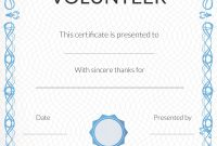 Free Volunteer Appreciation Certificates — Signup with regard to Printable Certificate Of Recognition Templates Free