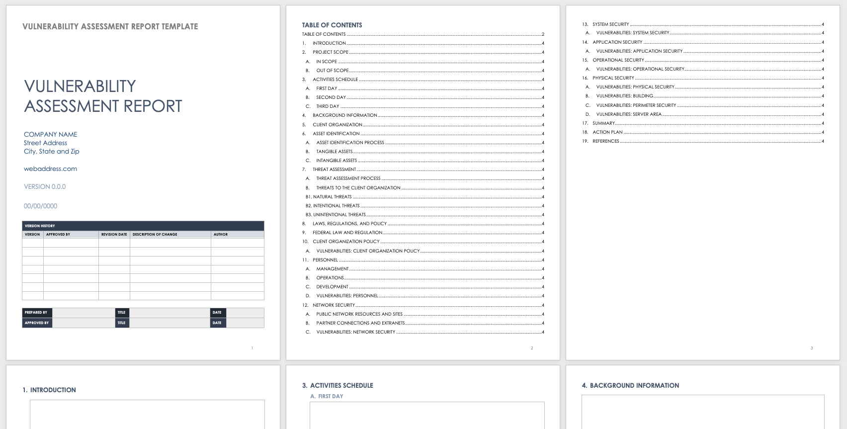 Free Vulnerability Assessment Templates  Smartsheet With Threat Assessment Report Template