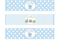 Free Water Bottle Label Template Baby Shower S  Litlestuff pertaining to Baby Shower Bottle Labels Template