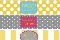 Free Water Bottle Labels For A Summer Party  Free Printablesfonts intended for Printable Water Bottle Labels Free Templates