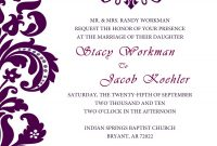 Free Wedding Invitation Templates For Word Free Wedding Invitation with regard to Church Wedding Invitation Card Template
