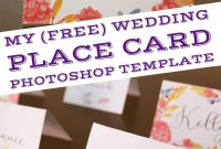 Free Wedding Place Card Template Ideas Photoshop Templatepp with Free Place Card Templates 6 Per Page