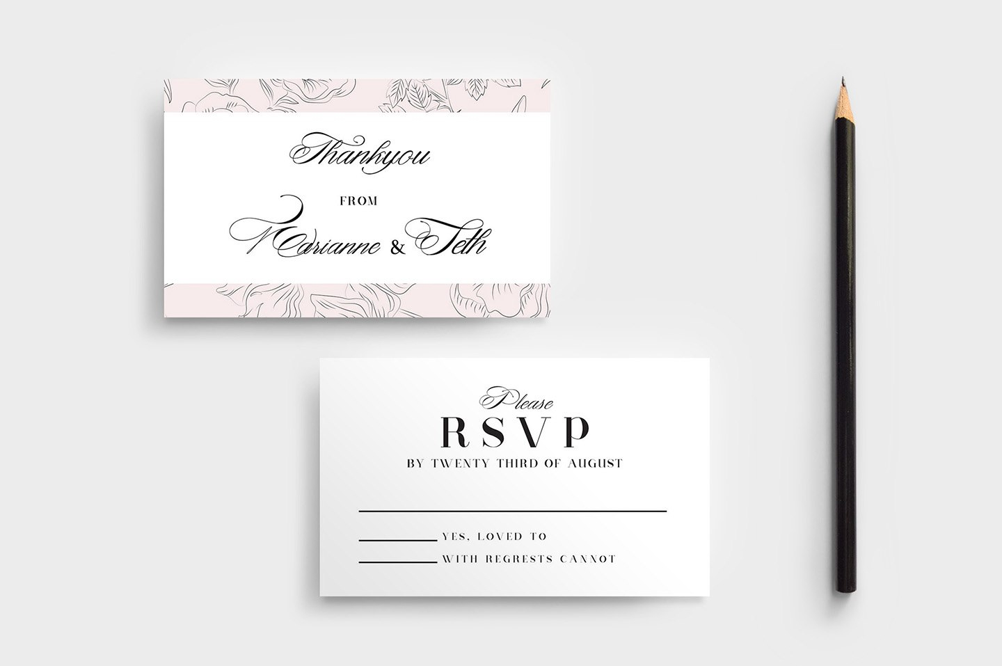 Free Wedding Stationery Templates For Photoshop  Illustrator Throughout Free Printable Wedding Rsvp Card Templates