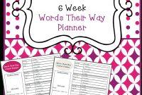 Free Words Their Way  Week Planner  Tpt Free Lessons  Rd Grade regarding Words Their Way Blank Sort Template
