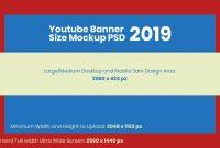 Free Youtube Banner Size Mockup   Design Template Psd For within Youtube Banner Template Size