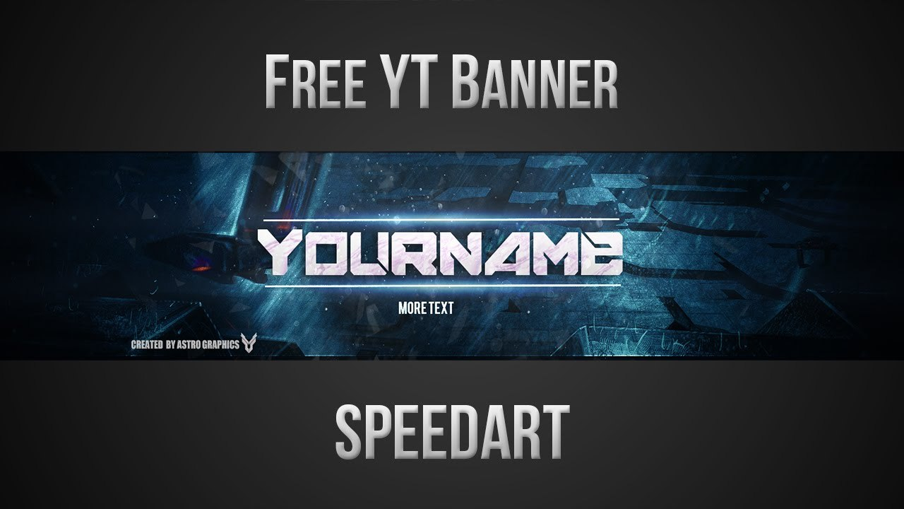 Free Youtube Banner Template Psd New   Youtube Intended For Banner Template For Photoshop