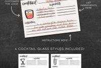 Freebie Cocktail Recipe Cards  Design Freebies  Cocktail Recipes with Recipe Card Design Template