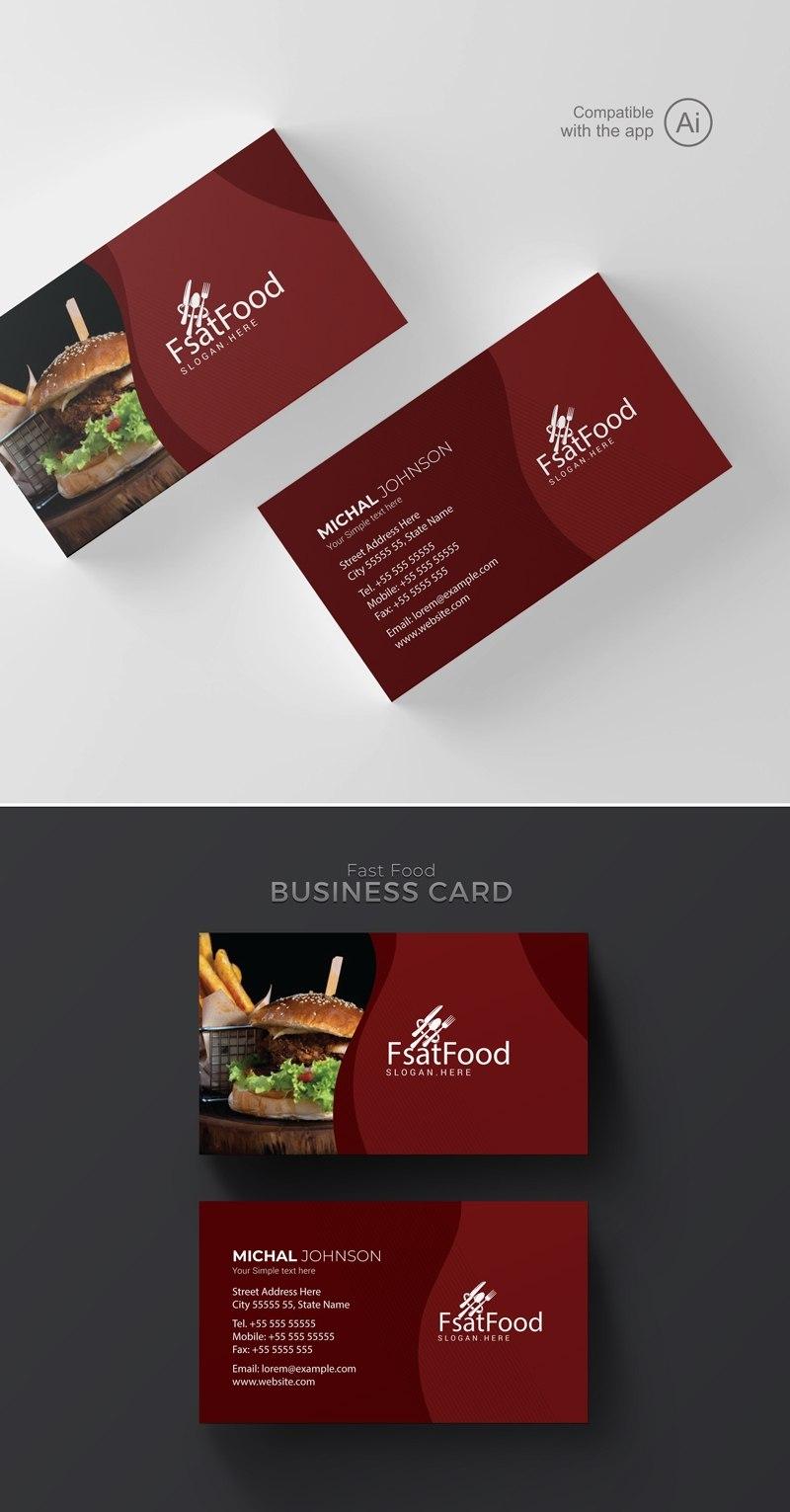 Freepiker  Restaurant Business Card Template With Regard To Restaurant Business Cards Templates Free