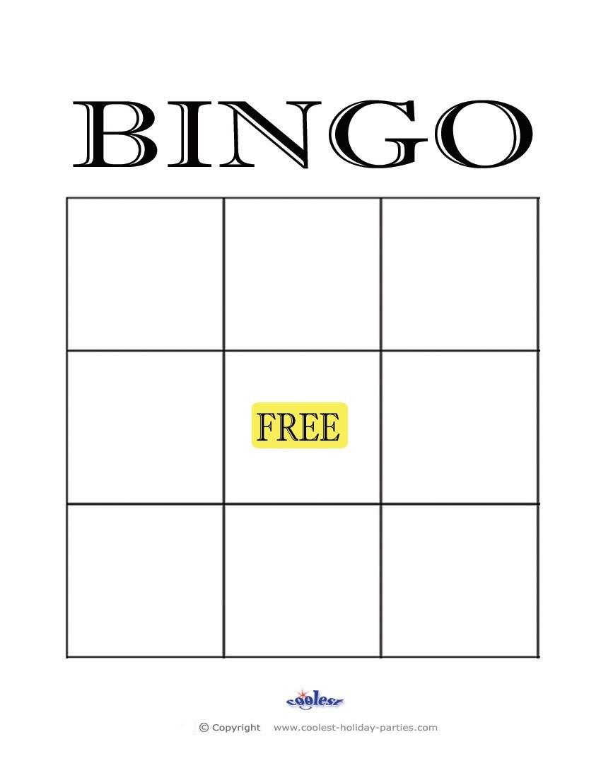 Freeprintableblankbingocardstemplate  Kidsrock  Blank Bingo Intended For Blank Bingo Template Pdf