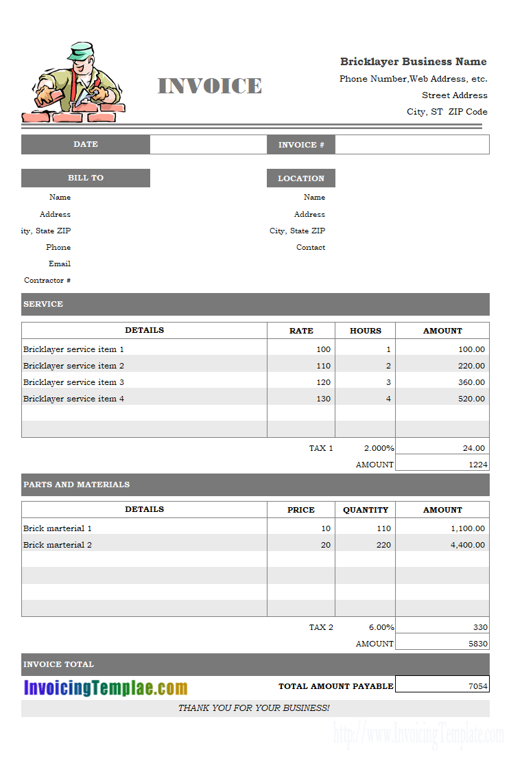 Freight Invoice  Free Invoice Templates For Excel  Pdf Within Xl Invoice Template