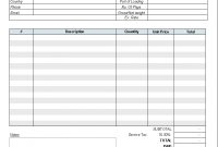 Freight Invoice Template  Invoice Manager For Excel with Trucking Company Invoice Template