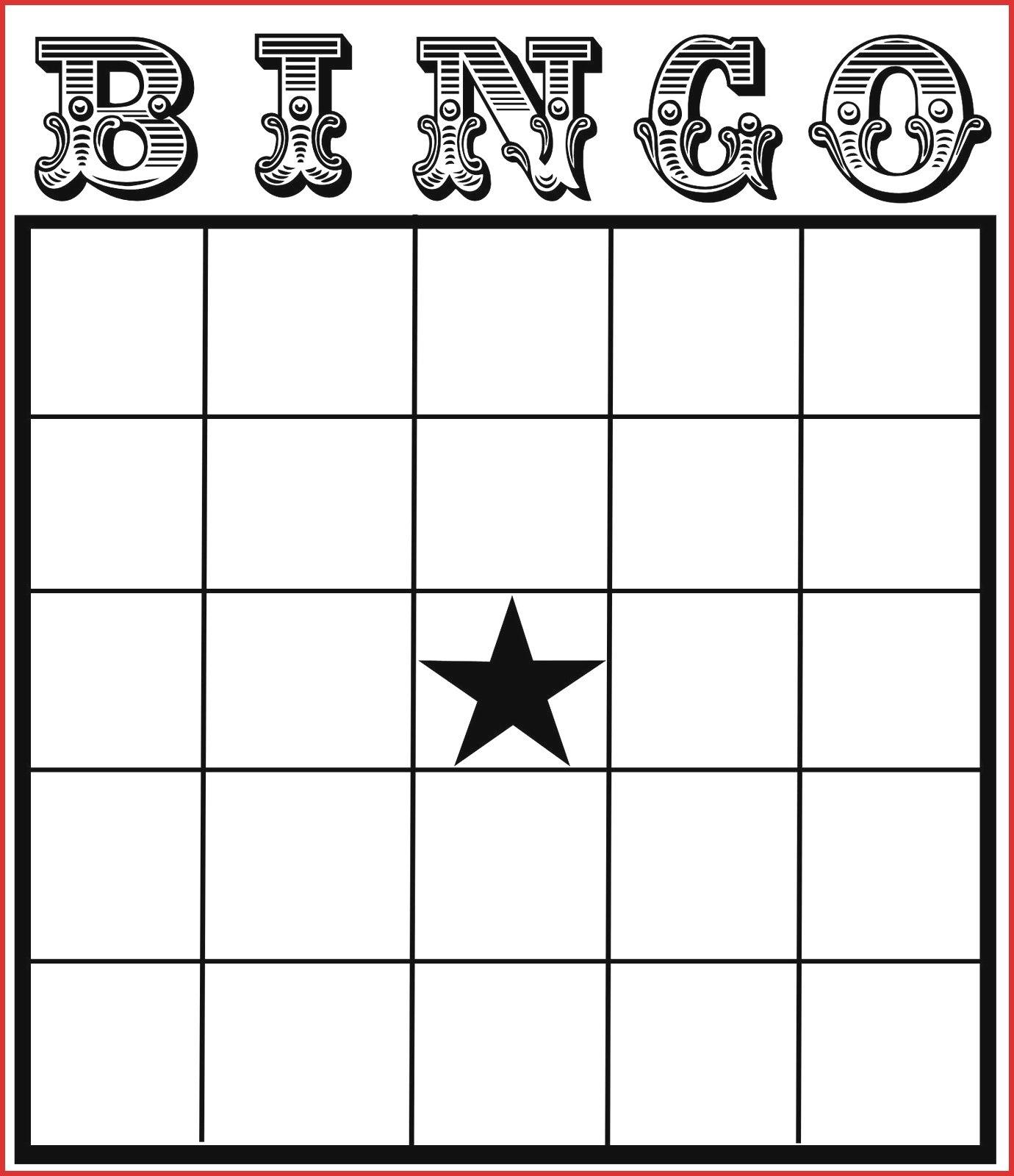 Fresh Blank Card Template  Leave Latter With Blank Bingo Card Template Microsoft Word