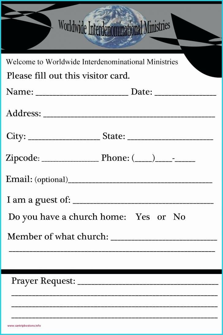 Fresh Church Visitor Card Template  Free Modern Powerpoint Regarding Church Visitor Card Template Word