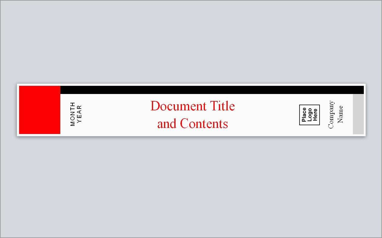 Fresh Free Spine Label Template  Best Of Template Inside Free Lever Arch File Spine Label Template