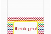 Fresh Free Thank You Card Template Word  Best Of Template in Free Printable Thank You Card Template