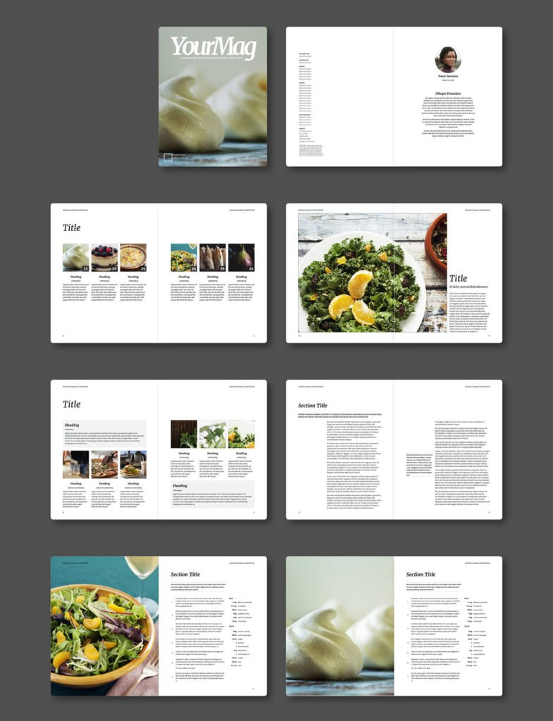 Fresh Indesign Templates And Where To Find More  Redokun With Menu Template Indesign Free