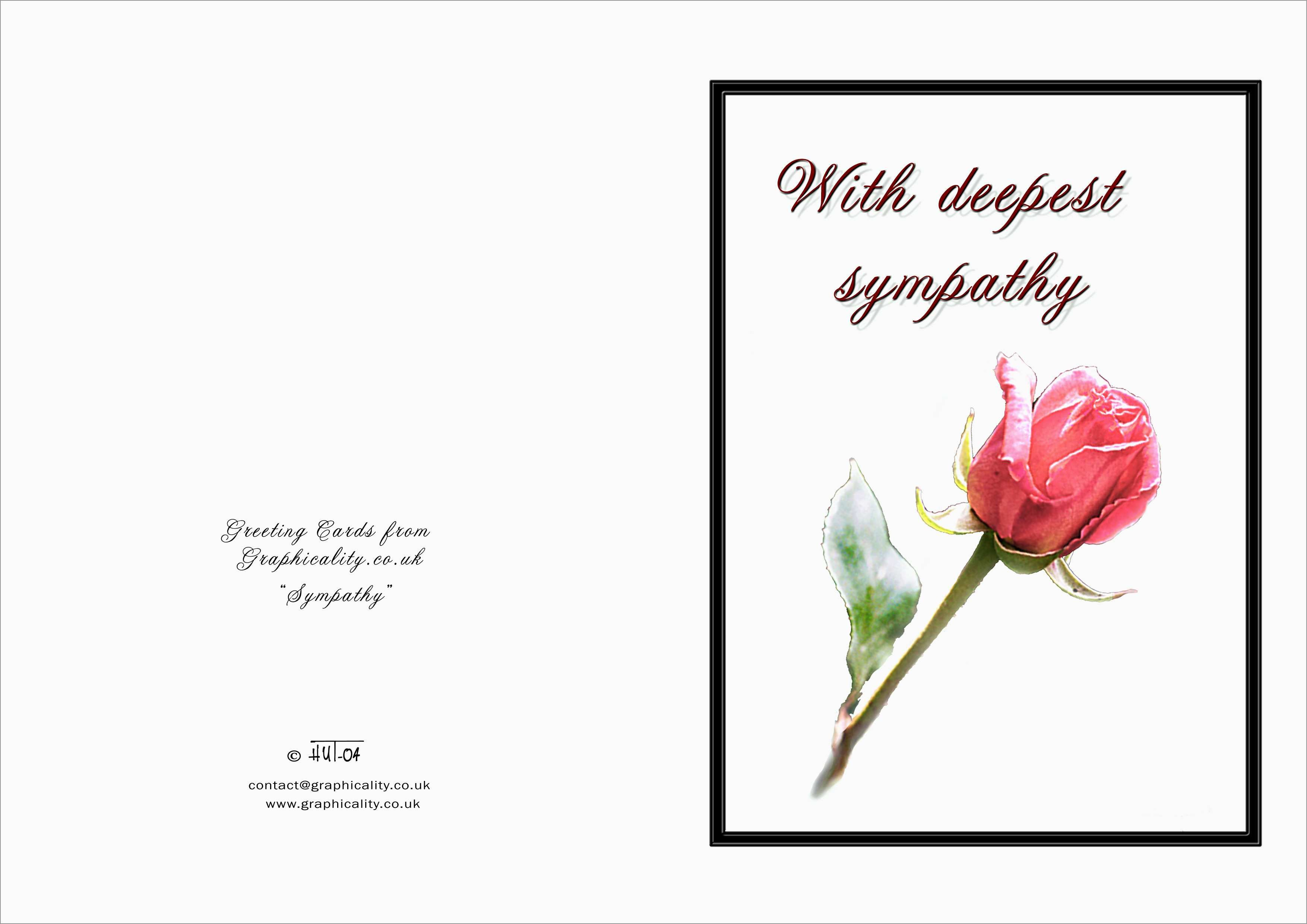 Fresh Memorial Cards For Funeral Template Free  Best Of Template Regarding Sympathy Card Template