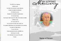 Fresh Memorial Cards For Funeral Template Free  Best Of Template throughout Death Anniversary Cards Templates