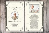 Fresh Memorial Cards For Funeral Template Free  Best Of Template with In Memory Cards Templates