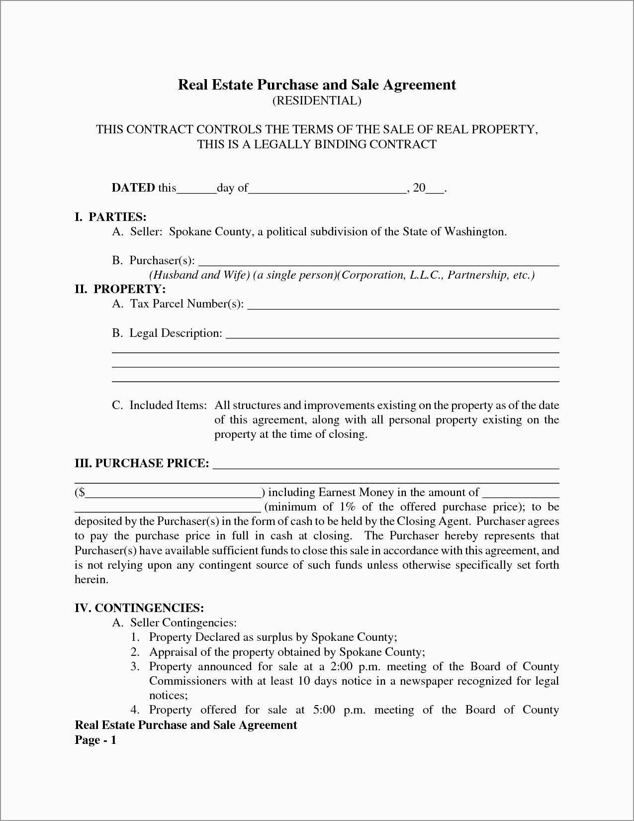 Fresh Purchase Agreement Real Estate Template Free  Best Of Template For Free Simple Real Estate Purchase Agreement Template