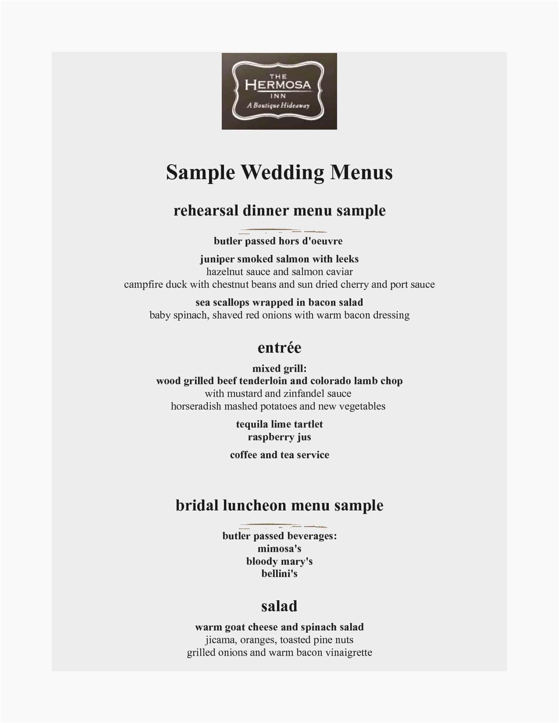 Fresh Stock Of Wedding Rehearsal Dinner Menu Ideas  Wedding News Throughout Rehearsal Dinner Menu Template
