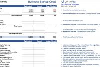 Frisch Startup Budget Template  Bibruckerholzde With Budget Template For Startup Business