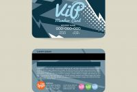 Front And Back Vip Member Card Template Royalty Free Vector in Membership Card Template Free