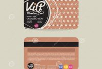 Front And Back Vip Member Card Template Stock Vector  Illustration in Membership Card Template Free