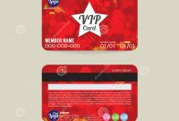 Front And Back Vip Member Card Template Stock Vector  Illustration regarding Membership Card Template Free