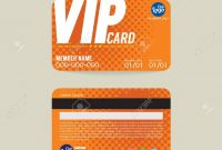 Front And Back Vip Member Card Template Vector Illustration Royalty with Membership Card Template Free