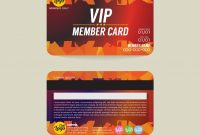 Front And Back Vip Member Card  Template Vector Images pertaining to Membership Card Template Free