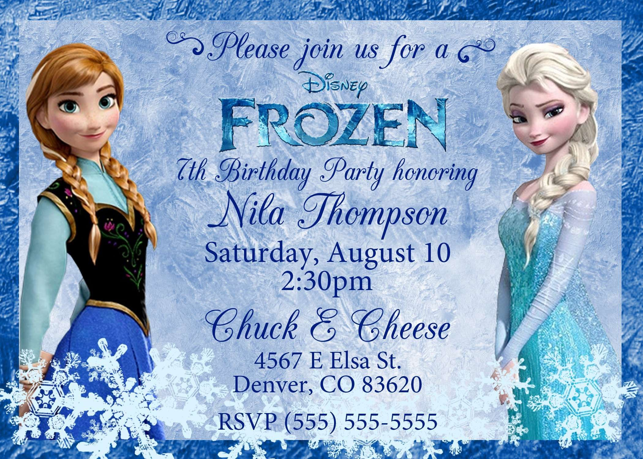 Frozen Birthday Invites Template Excellent Ideas Happy Card Throughout Frozen Birthday Card Template