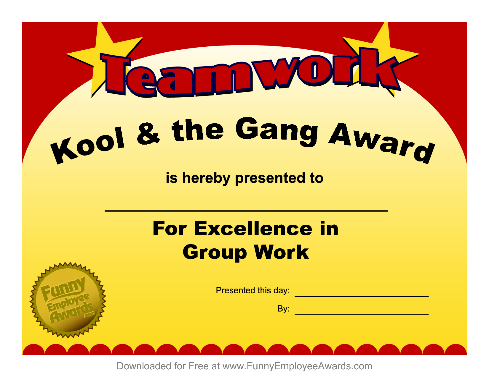 Fun Award Templatefree Employee Award Certificate Templates Pdf Intended For Funny Certificates For Employees Templates