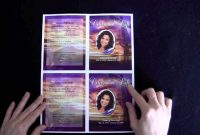 Funeral Memorial Cards  Youtube within Memorial Cards For Funeral Template Free