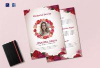 Funeral Memorial Service Program Template for Memorial Brochure Template